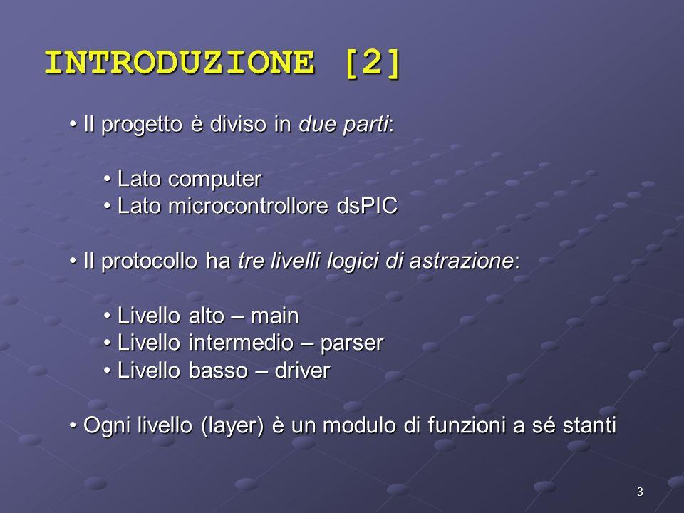 INTRODUZIONE [2] Il progetto è diviso in due parti: Lato computer